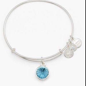 Alex and Ani Aquamarine Bracelet